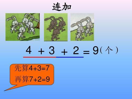一年级连加的计算方法 连加简便计算技巧图片